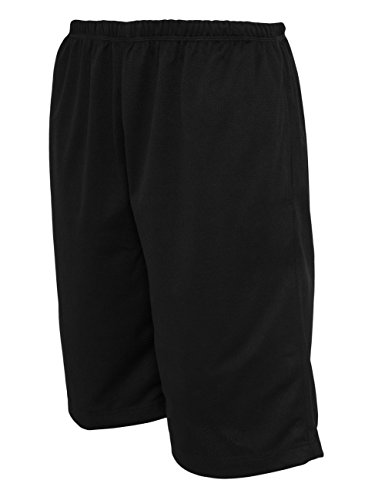 Urban Classics BBall Mesh Shorts with Pockets Black
