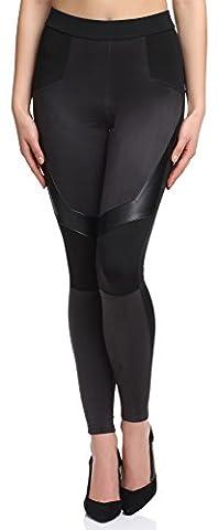 Merry Style Women's Leggings 128-SP (Black, EU 40 (UK 12))