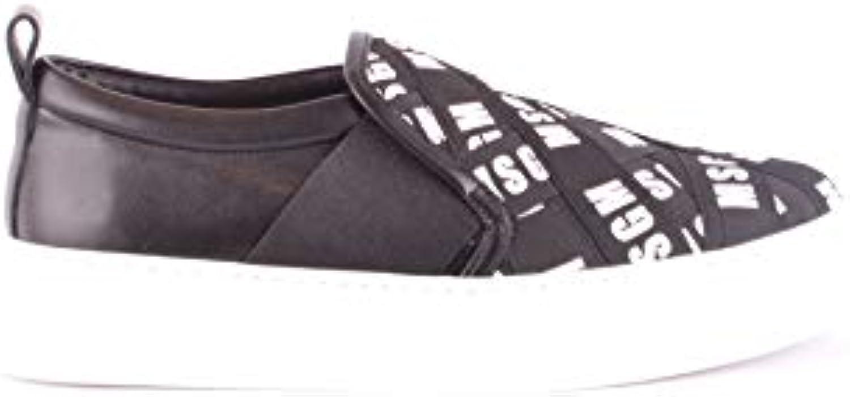 MSGM Slip On On On scarpe da ginnastica Donna MCBI36012 Tessuto Nero | Molto apprezzato e ampiamente fidato dentro e fuori  19642d