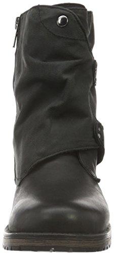 SPM Damen Iyam Ankle Boot Biker Schwarz (Black)