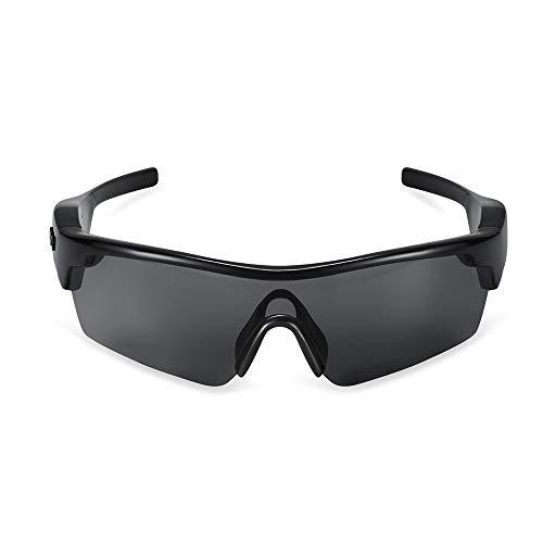 WMWHALE wasserdichte Action Brille Sport Stereo Bluetooth 4.1 Kopfhörer Polarisierte Audio Sonnenbrille Kopfhörer Reiten Radsport Brille,Black
