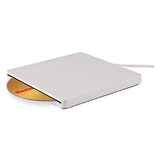 USB 2.0 Slot-in DVD RW Brenner, Portable Writer Externes Laufwerk Slim-Slot 24x USB 2.0 CD Brenner, Superdrive für alle Laptops/Desktop z.B Lenovo,Acer,Asus; PC unter Windows und Mac OS für Apple Macbook, Macbook Pro, MacbookAir, iMac – Silber