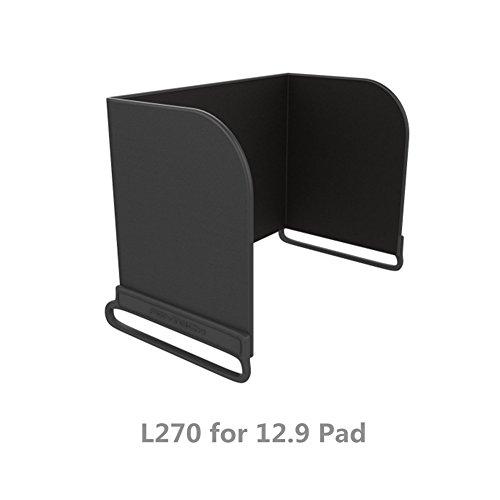 Hensych® Fernsteuerpult Telefon Monitor Sonnenhaube Sonnenschutz Abdeckhaube Smartphone Tablet iPad Sonnenschutz für DJI Mavic PRO / Inspire / Phantom 3 4 M600 OSMO (L270 for 12.9 Pad, Schwarz)