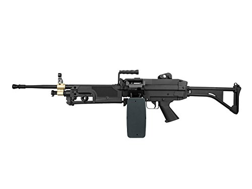 A&K M249 MK1 Vollauto Softair / Airsoft Light Machine Gun Maschinengewehr -schwarz- < 0,5 Joule (Air Machine Gun)