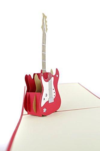 Poplife cards biglietto di auguri pop-up per papà giorno per chitarra, per tutte le occasioni festa del papà, buon compleanno, anniversario, laurea, pensionamento, musicisti, insegnante, studente, am