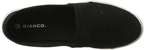 Bianco Textile Espadrilles, Espadrilles femme Schwarz (Black)