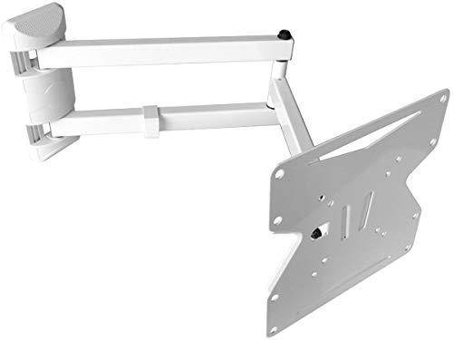 DRALL INSTRUMENTS TV Wandhalterung Universal Fernseh Halterung - Schwenkbar Neigbar - TV Wand Halter Aufhängung für 3D HD LED LCD Fernseher - 15-37 Zoll - VESA 75 100 200x100 200 weiß Modell: S89W Hd Plasma-tv