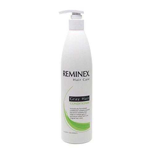 Anti-Grau Hair Conditioner von Reminex zu Graues Haar und weiße Haare in ihre ursprüngliche Haarfarbe wiederherstellen. 8 Oz. Pro Flasche. Perfekt, um mit Reminex Anti-grauen Haar Shampoo verwenden. Paraben Free. (Shampoo Emu-öl)