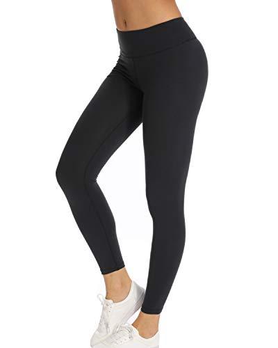 Teniux Laufhose Damen Sport Leggins für damen Ideal für Training, Radfahren, Laufen, Gymnastik, Yoga, etc, Schwarz, S (DE30-32) -