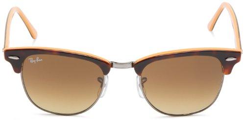 Ray-Ban - Lunette de soleil RB3016 Clubmaster Wayfarer 51 mm 112685: Dark Tortoise On Orange