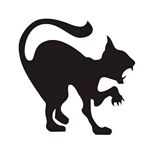 e Wandaufkleber Halloween Plane Cartoon Fensterglas Aufkleber Heiße Kinder Vinyl Home Decor Scary Cat Schablone Decals ()