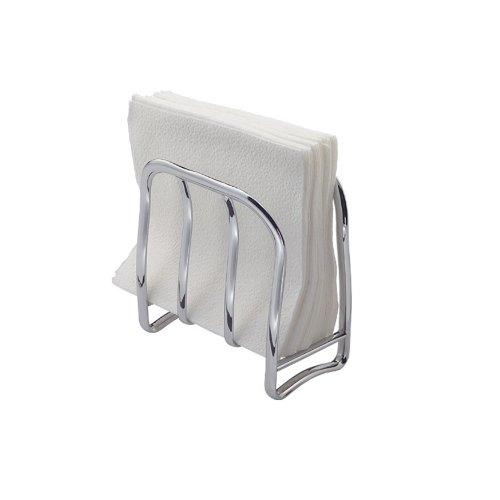 Interdesign axis portatovaglioli in metallo, pratico supporto per tovaglioli da cucina per la tavola o per il piano di lavoro, argento
