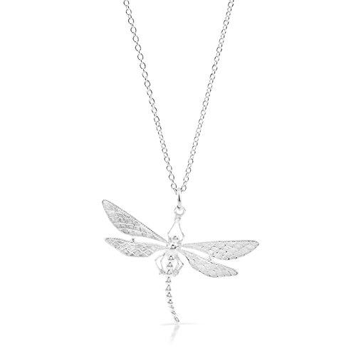 925Sterling Silber Anhänger Libelle