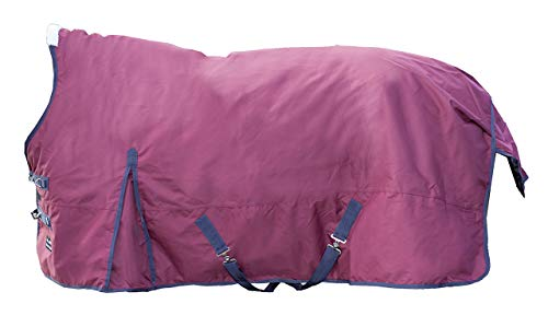 HKM Sports Equipment HKM Highneckdecke -Utah- mit Polarfleecefutter, Dunkelrot, 135