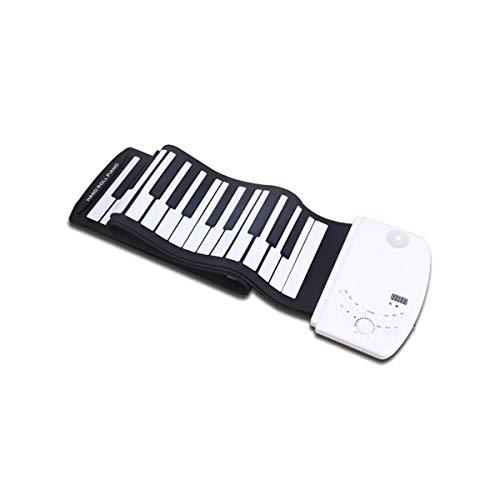 Handrolle Tastatur XTLbaofu Falten Multifunktions-Lithium-Batterie 88 Tasten, geeignet für Kinder Erwachsene Anfänger üben (Mp3 Song Halloween)