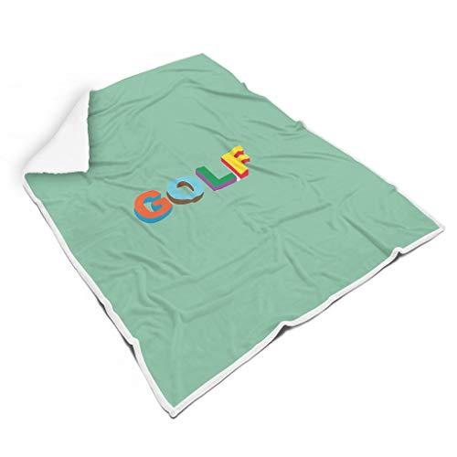 O4EC2-8 Decke Golf gefärbt Muster Gedruckt Mikrofaser Zwei Größen Throws Wrap Robe - Golf-Enthusiasten Komfortabel Passt Frauen Verwenden white5 130x150cm -