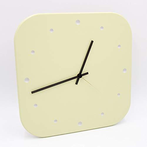 Design-Wanduhr aus Holz mit hochwertigem Quarz-Uhrwerk für Küche, Wohnbereich, Büro oder Schlafzimmer - Farbton