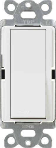 Lutron CA-4PSNL-WH Diva Satin Colors 15-Amp 4-Way Switch with Locator Light, White by Lutron