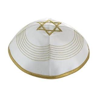 Weiße Satin Kippa Yarmulke Jüdisch Israelischer Hut Kappe