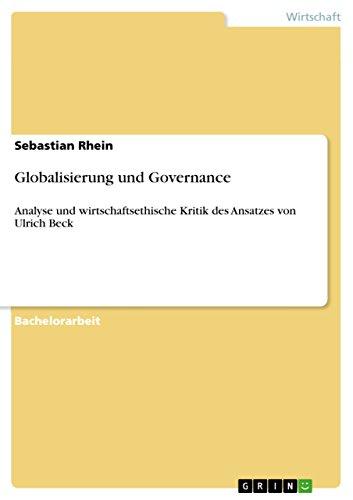 Globalisierung Und Governance Analyse Und Wirtschaftsethische