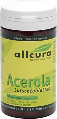 allcura Acerola Lutschtabletten, 70 g Tabletten -