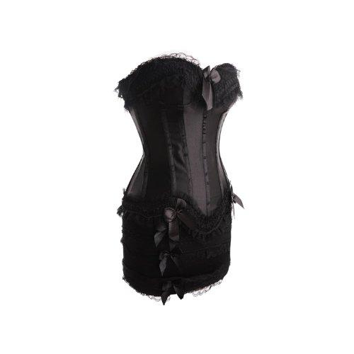 bei colori Burlesque corsetto blu, rosa, rosso, bianco, top nero con corsetti neri, vita 38,40,42,44,46,48,50,52,54,56 corsetto nero con minigonna