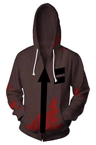 Angel Kostüm Death - Angels of Death Isaac·Foster Zack Pulli Kapuzenpulli Cosplay Kostüm Braun XL