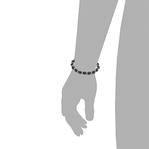s.Oliver Herren-Armband Elastisches Band Edelstahl Hämatit 20 cm