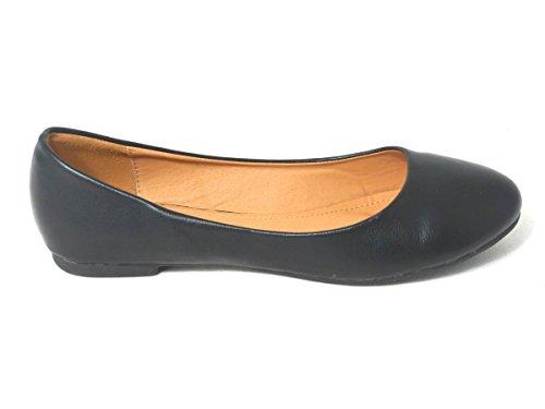 SKO'S , Chaussures plates fille femme Black Matt (101-4)