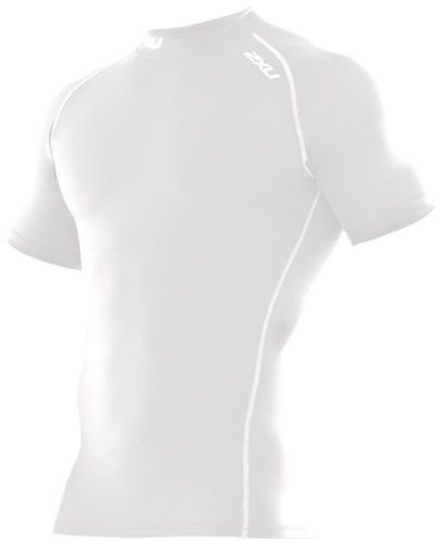 2XU Damen Kompressionstop Mens Short Sleeve Compression Top, wht/wht, XXL, MA1982a