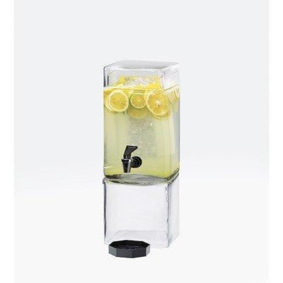 Cal-Mil 1112-1 Square Glass 1.5 Gallon Beverage Dispenser