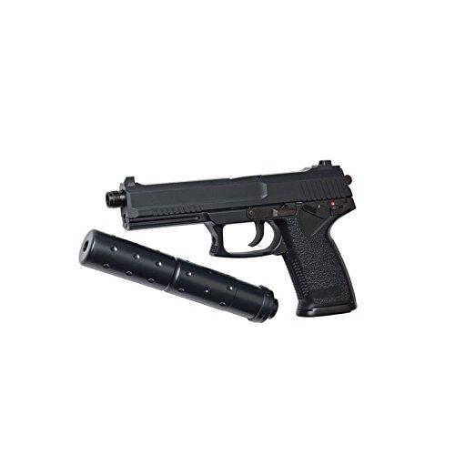 AIRSOFT STTI Pistole MK23SOCOM mit Schalldämpfer Semi Automatische Gas & Zylinderkopfdichtung Festnetz (0,5Joule)