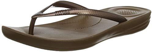 Fitflop Iqushion Ergonomic Flip-flops, Damen Zehentrenner, Braun (Bronze 012), 40 EU (6.5 UK)