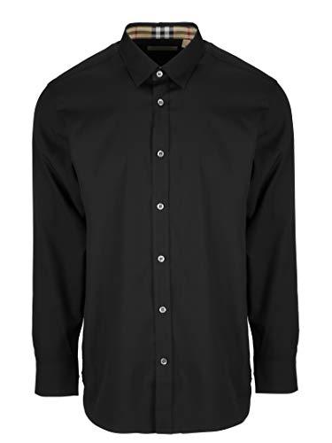 Burberry camicia uomo 8003074 cotone nero