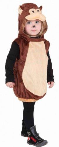 Affen Weste mit Kapuze, Kinder-Größe:104 (Der Kostüm Liebe Kind)