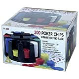300 Poker Chips with Revolving Rack by Classic Game Collection