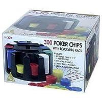 300 Poker Chips with Revolving Rack Game by John Hansen