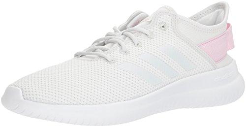 adidas NEO Women's CF Qtflex W Running Shoe, Crystal White/Crystal White/Aero Pink, 6.5 M US