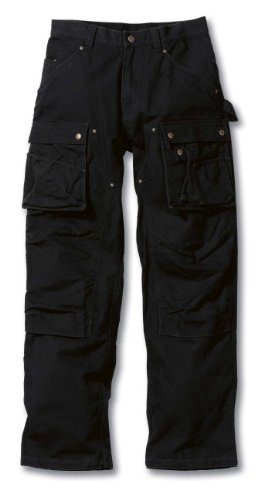 Carhartt Duck Multi Pocket Tech Hose 38 Schwarz L32