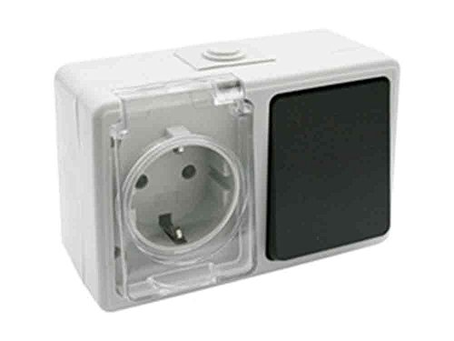 Base + Interruptor estanco Electro dh 36.526/BI