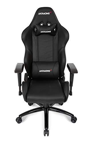 AKRACING Core LX Gaming Stuhl mit 5 Jahren Herstellergarantie für PC/PS4/XBOX/Nintendo, Schreibtischstuhl mit Kissen, PU-Kunstleder - Schwarz