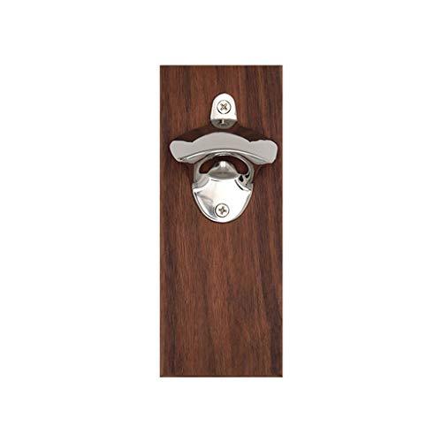 Kühlschrankaufkleber 3D Serria® Flaschenöffner für die Wandmontage mit integriertem Magnetverschluss in einem Massivholzkühlschrank