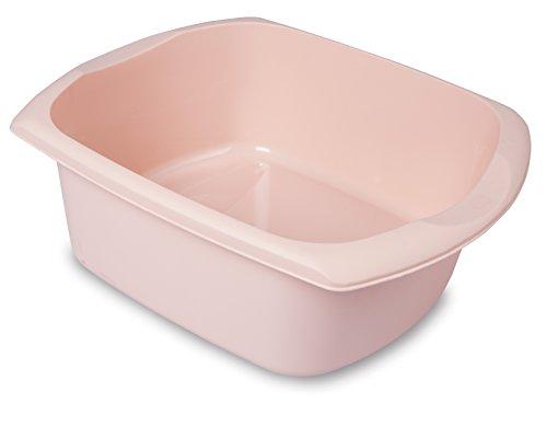 ADDIS Grande bassinerectangulaire, Plastique, Rose, 9.5 L