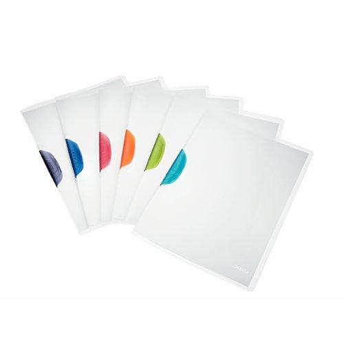 Leitz 41740099 Klemmmappe ColorClip Magic, A4, PP, 6-er Packung, sortiert