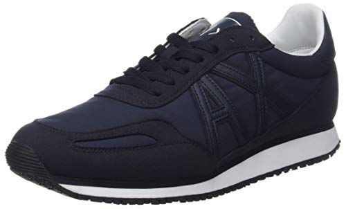 Armani Exchange Herren Low-Top Sneaker, Blau (Navy 00285), 41 EU