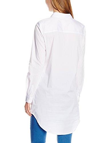 Pieces Pcbenita Ls Long Shirt Noos, Blouse Femme Blanc (Bright White)