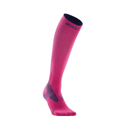 Damen Elite Kompression Socken (2x u Damen Elite Kompression Performance Socke, Damen, WA1994e Pink/Grey S, pink/grau, S)