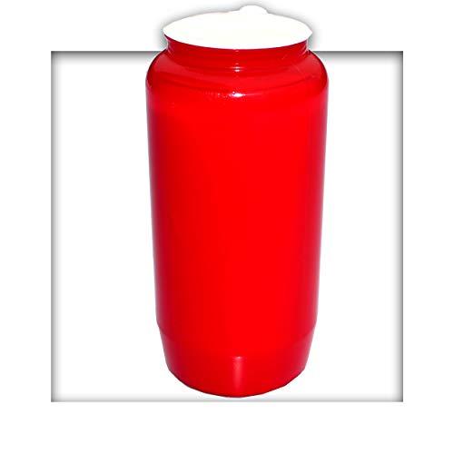 Kompositions Öl-Lichter, Nr.7 rot Grablicht Grabkerze Grablaterne 90 Stück