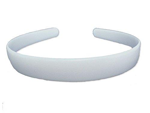 Tinta unita bianco Core plastica cerchietto 2cm