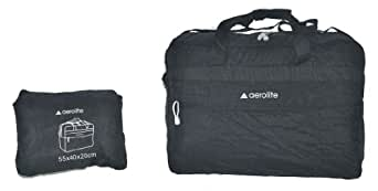 Aerolite� Lightweight Extra Large Black Fold Away Holdall / Cabin Approved Flight Bag Backpack Bag (21, Black HOLDFOLD)